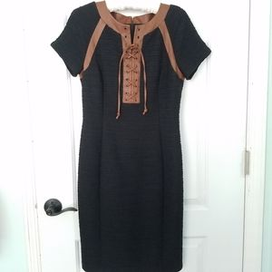 Nue by Shani Body Con Dress Black Ruched Size 4